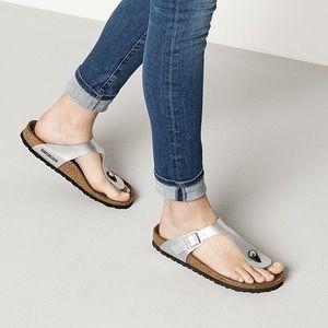 Birkenstock Leather Gizeh Birko Sandals Sz 37